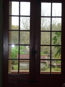 Glimpses of slave cabins at the Laura Plantation