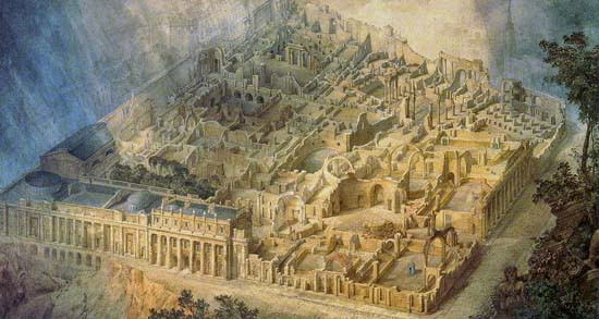 Joseph Gandy, - Bank of England as a Ruin, 1830, Oil on Canvas, Soane Museum, London