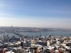 A photo of Istanbul taken by Benjamin during his writing residency