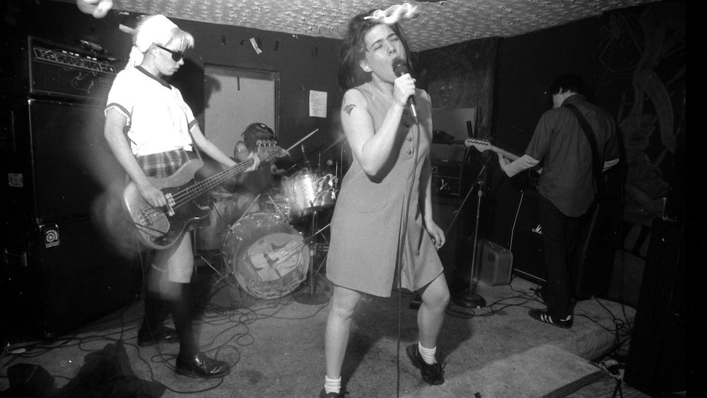 Bikini Kill performs in Washington, D.C., in the 1990s. (Image copyright Pat Graham / www.patgraham.org)