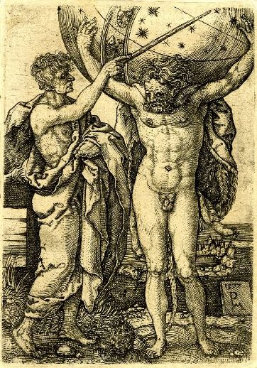 Peter Maes after Heinrich Aldegrever, The Labours of Hercules, 1577, engraving, 94 × 67 mm, British Museum, London - Copy