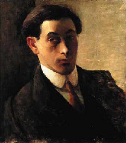 A self-portrait of Isaac Rosenberg, who as painted as well as writing poetry