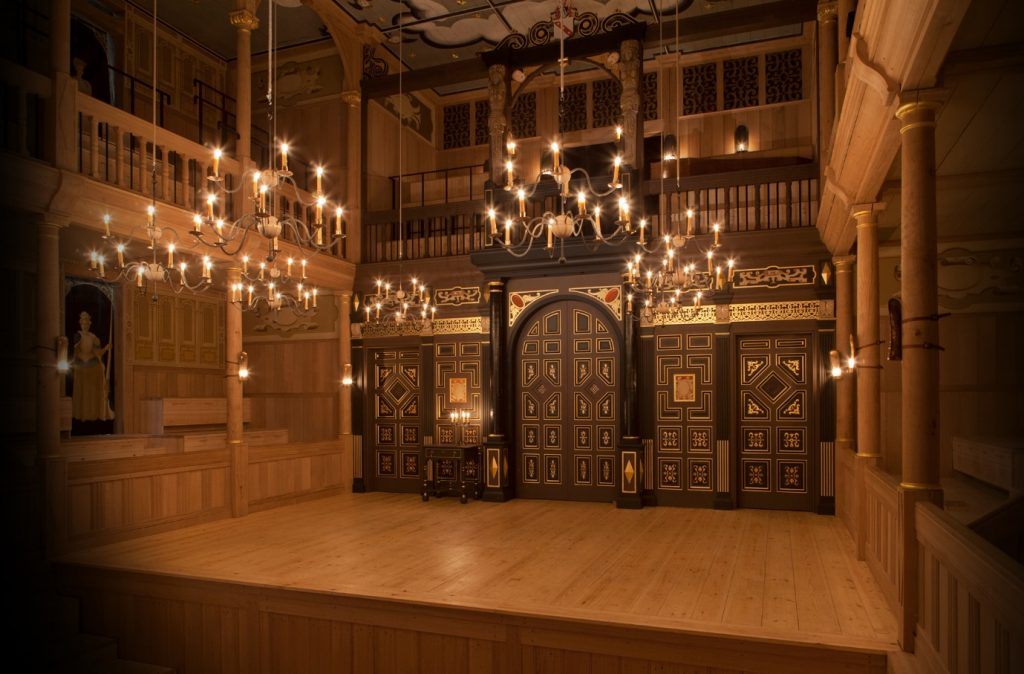ete Le May, Interior of Sam Wanamaker Playhouse (2014), photograph, The Globe Theatre, London.