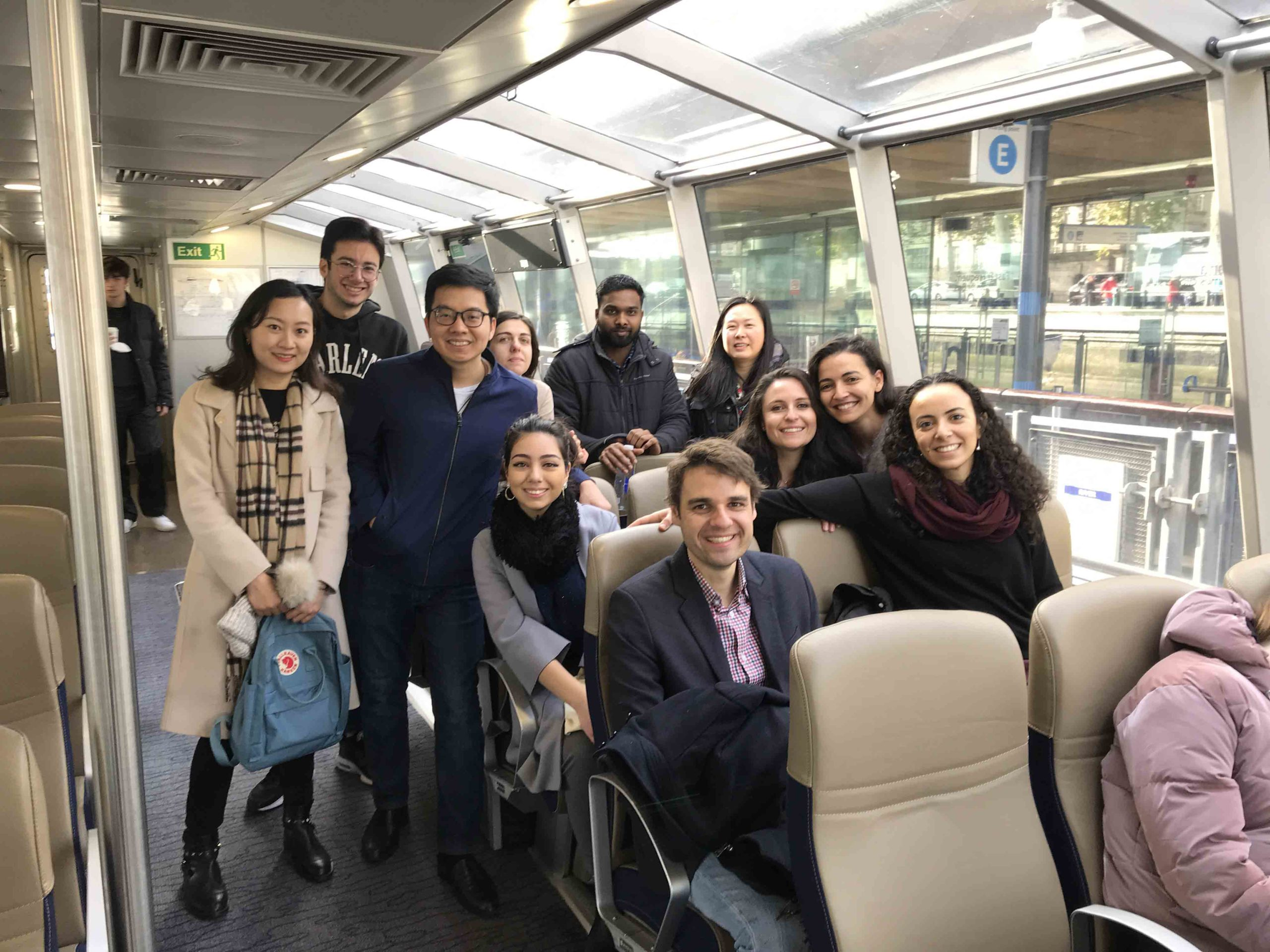 A group photo with international students during a walking tour of Greenwich as a part of Birkbeck One World Festival 2019/20