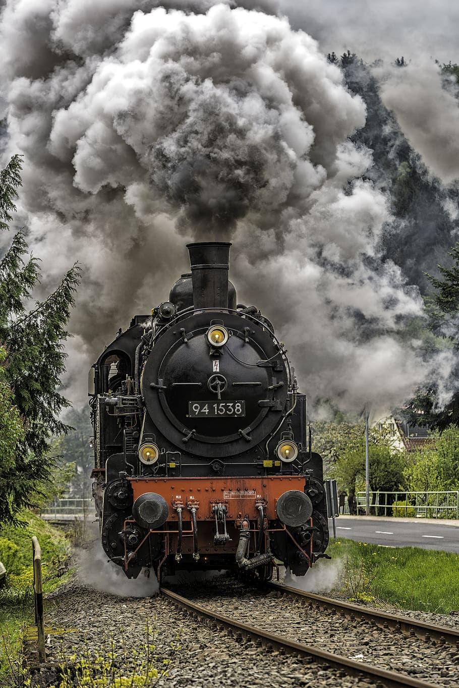 A picture of a steam locomotive train
