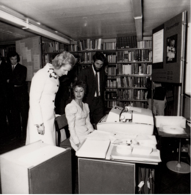 Margaret Thatcher at Birkbeck Open Day in 1973