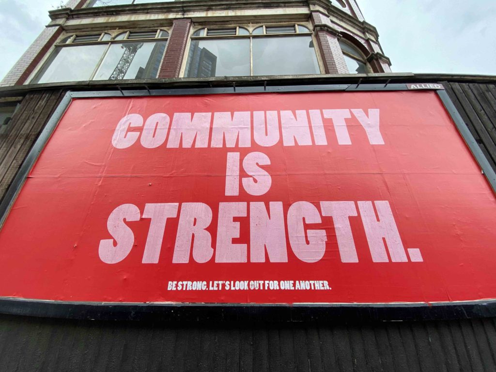 Community is strength on a billboard