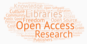open access word cloud
