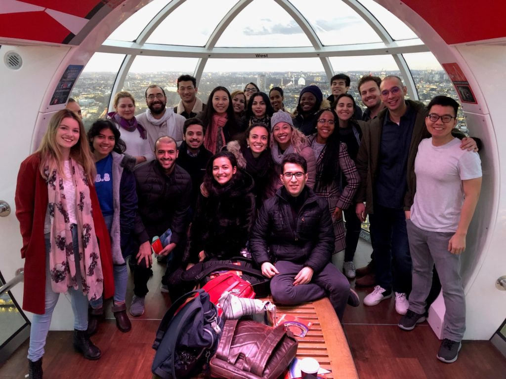 Birkbeck International Students on the London Eye