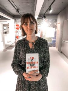 Amelia Gentleman with her book 'The Windrush Betrayal'