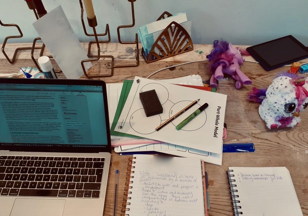 Photo of Aylin's desk