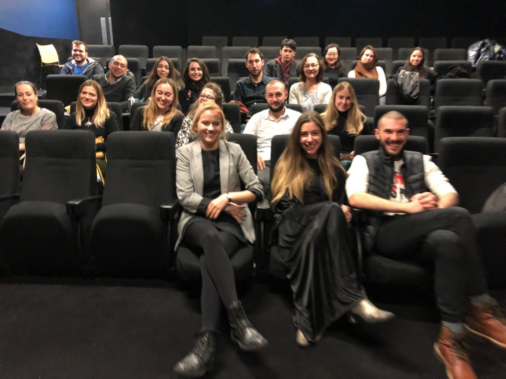 International students at the Birkbeck cinema