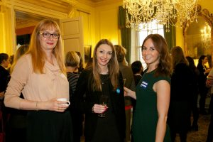 Kate Dodgson (right) at networking event at 10 Downing Street