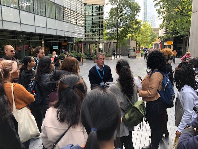 International students at Birkbeck were treated to a tour of London.