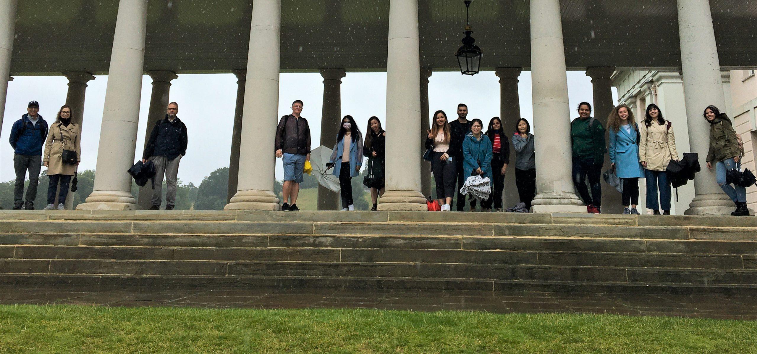 International students visiting Greenwich