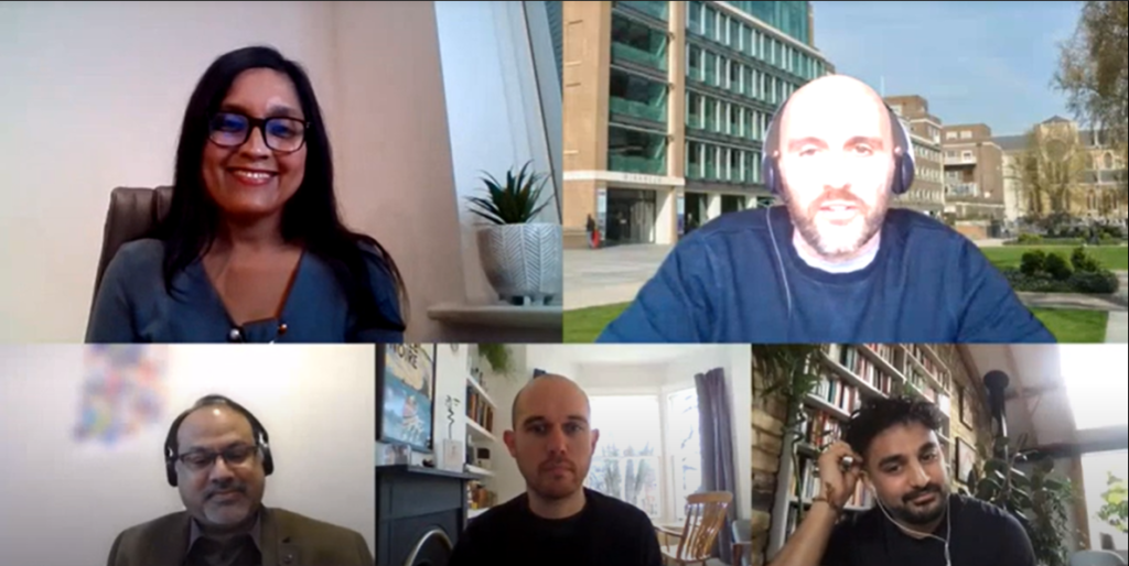 Screenshot of the group meeting for the Meet the Editor session