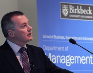 Willie Walsh, CEO of IAG, at Birkbeck Business Week 2013