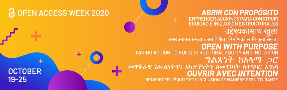 Banner advertising Open Access Week 2020