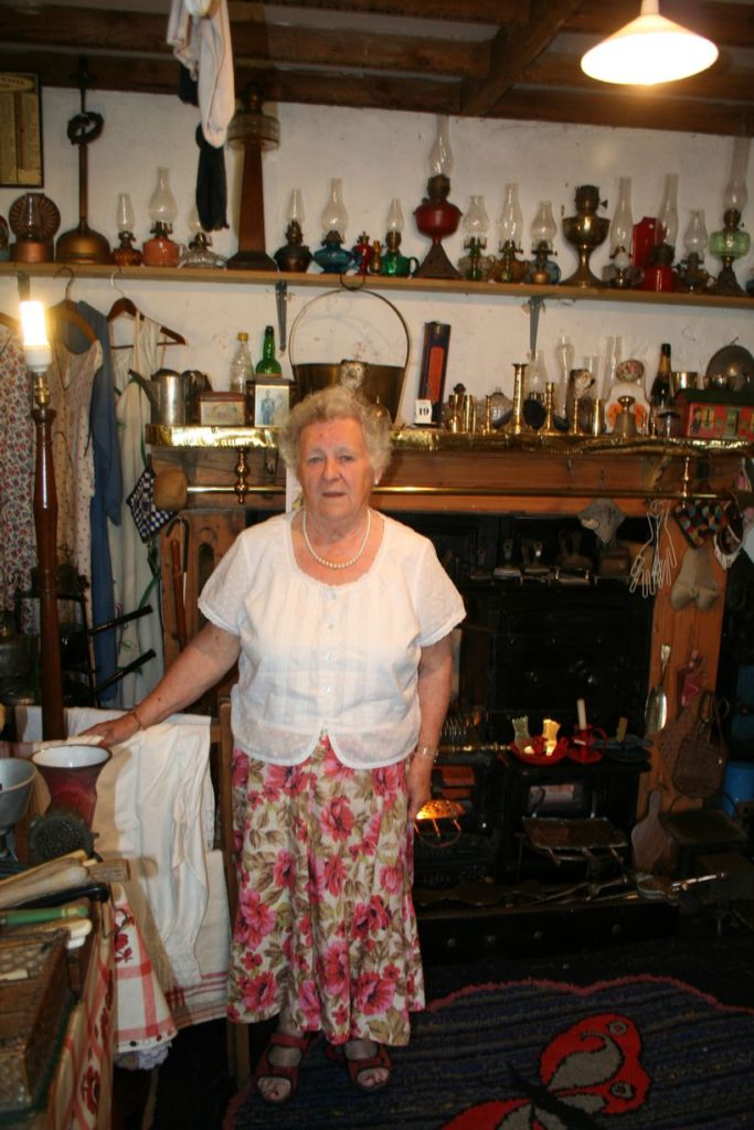 Sylvia Armstrong in her museum
