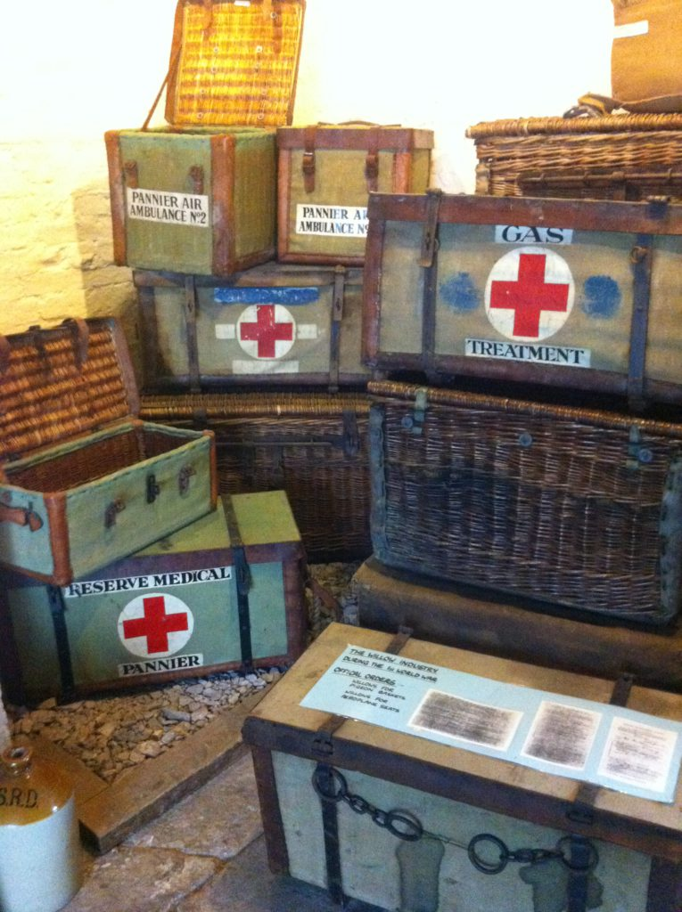 Basket Museum display including Red Cross baskets