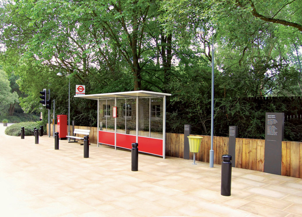 Bus stop at the David Mellor Design Museum