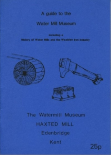 Cover of a guide to Haxted Water Mill Museum, 1983