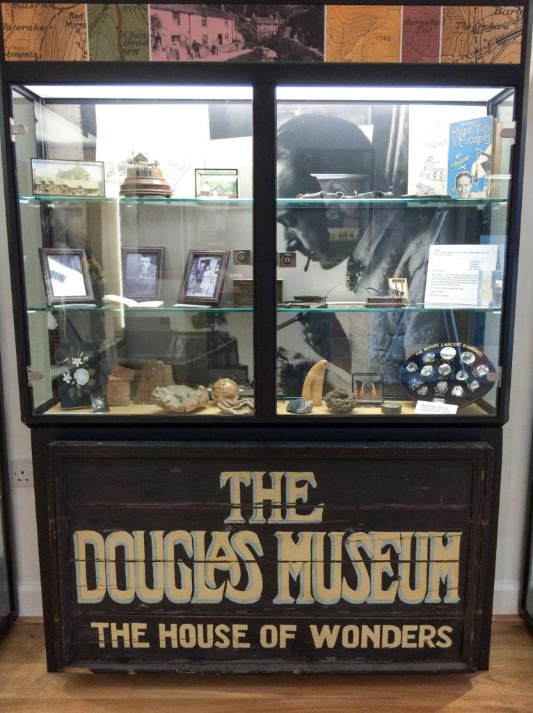 Douglas Museum showcase at Castleton Visitor Centre, 2017.