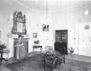 Interior view of the 18th century room inside Plummer Tower, Newcastle