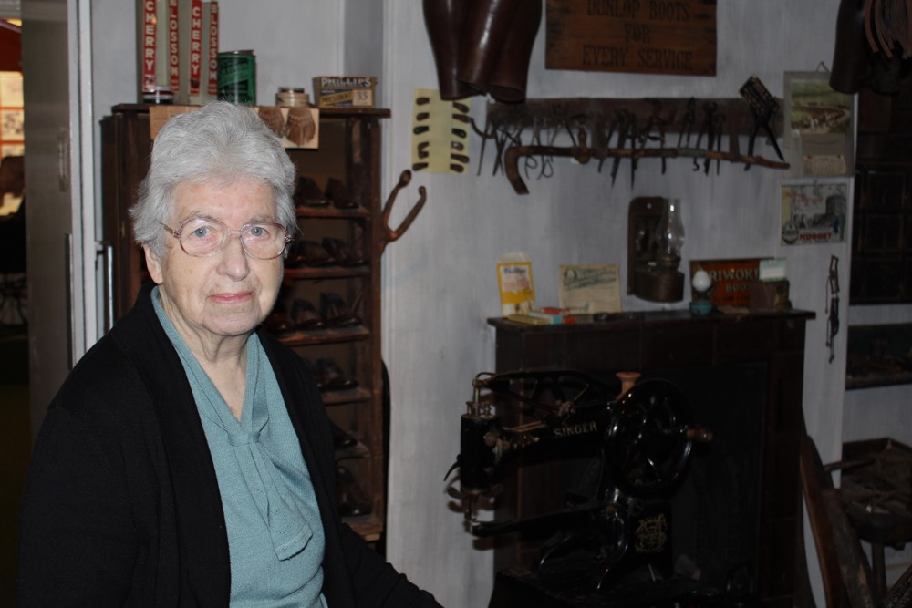 Eileen Burgess, co-founder of Nidderdale Museum, Yorkshire