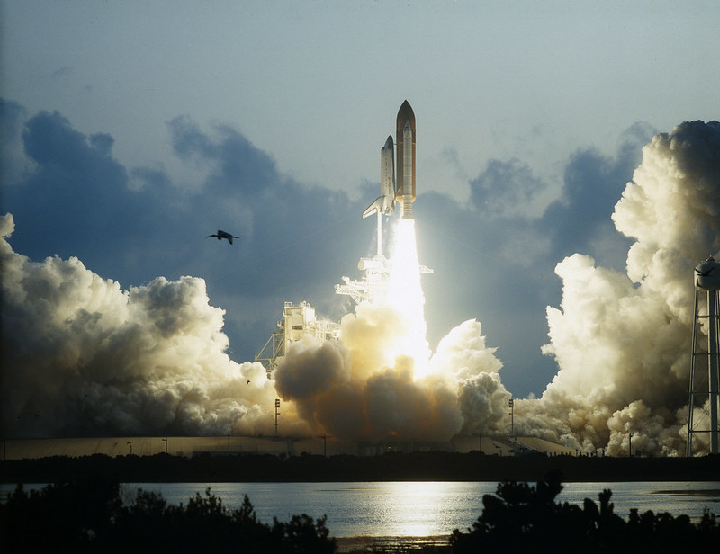 First Flight of Space Shuttle Endeavour Launches -- May 7, 1992