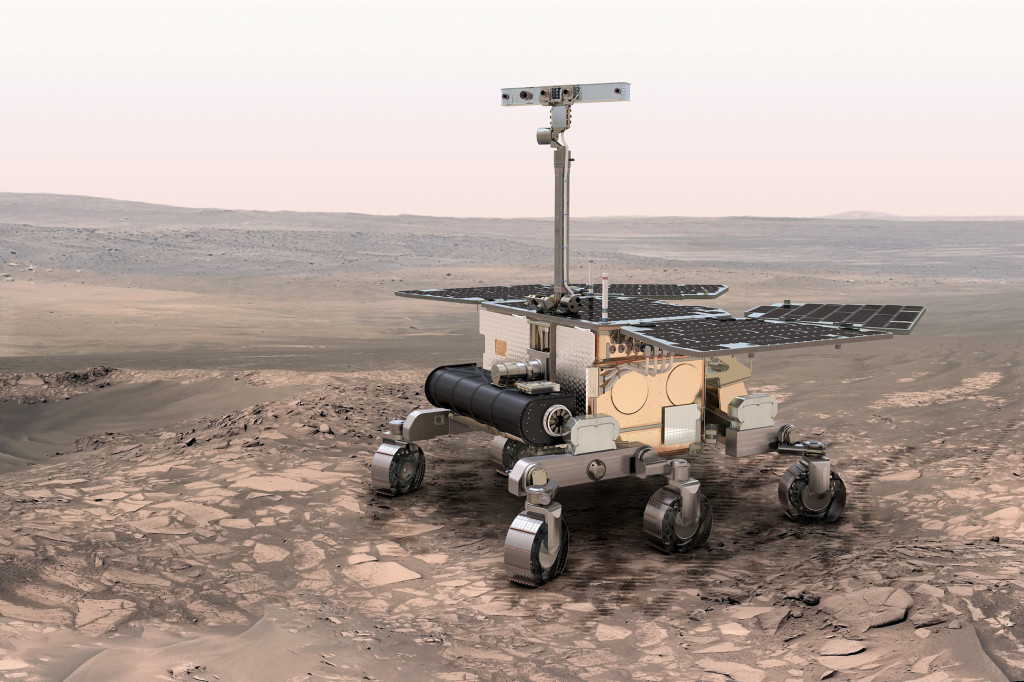 An artist's impression of the European Space Agency ExoMars rover. Credit: ESA