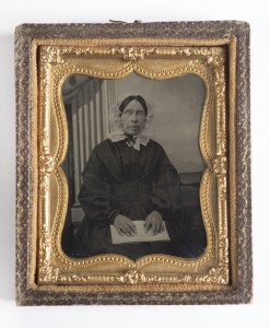 Unknown photographer, Ann Whiting, ambrotype, c. 1850-60s. Private Collection