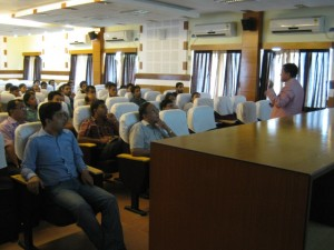 Dr Bhakta speaks to the Department of Molecular Biology and Biotechnology, Tezpur University (India)