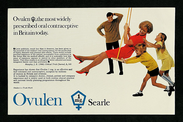 c.1968. Physician's circular / Searle, 'Ovulen'. By kind permission of Pfizer. Courtesy of Julia Larden, and the Wellcome Library, London. Photography by J Borge 2014 CC BY 4.0