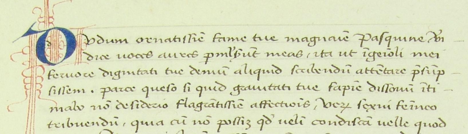 Maddalena Scrovegni letter detail