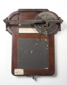 Typograph, by W. Hughes, 1850. Wood, brass and paper.