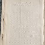 M. de Genoude, Evangelie Selon Saint Matthieu (Paris, 1868). Braille type.