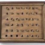 Klein Type letters in display case, c. 1830.