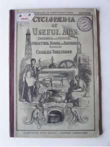 Front cover to 'Cyclopaedia of Useful Arts and Manufactures, Mechanical and Chemical, Manufactures, Mining, and Engineering', (1854), Credit: Association Valentin Haüy